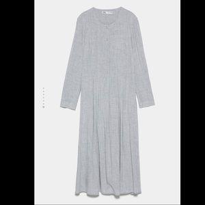 Gray button maxi dress